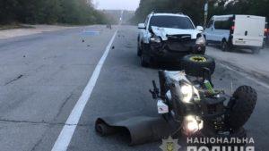 У Запоріжжі на трасі сталося смертельна ДТП: зіткнулися квадроцикл і легковий автомобіль - ФОТО