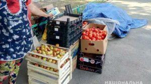 На Запоріжжі правоохоронці забрали у стихійних торговців 300 кілограм продуктів, а у підприємців 730 літрів алкоголю