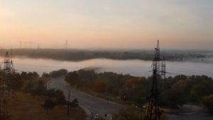Заворожує: як виглядає запорізька Хортиця під час туману, - ВІДЕО