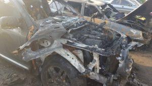 В Запорожской области ночью сгорело три автомобиля, - ФОТО