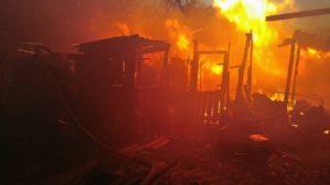 В Запорожской области во время пожара пожилой мужчина получил ожоги