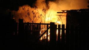 В Запорізькій області пожежа знищила будівлю