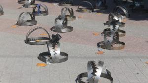 86 капканов «узников Кремля»: в центре Запорожья провели акцию в поддержку украинских политзаключенных, – ФОТО