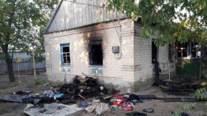 В Запорожской области в своем доме сгорел мужчина