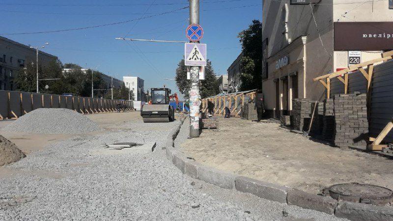 Ремонт на проспекті Металургів у Запоріжжі закінчать до 5 жовтня, — ФОТО