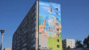 В Запорожской области закончивают создание масштабного мурала, — ВИДЕО