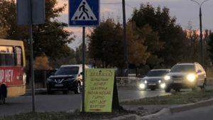 В Запорожье на дороге чуть не сбили ребенка из-за незаконной рекламы, — ФОТО