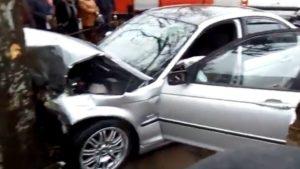 В Запорожской области BMW чуть не врезался в людей на большой скорости, — ВИДЕО
