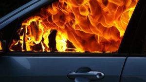 В Запорізькій області з невідомих причин загорілося авто, — ФОТО