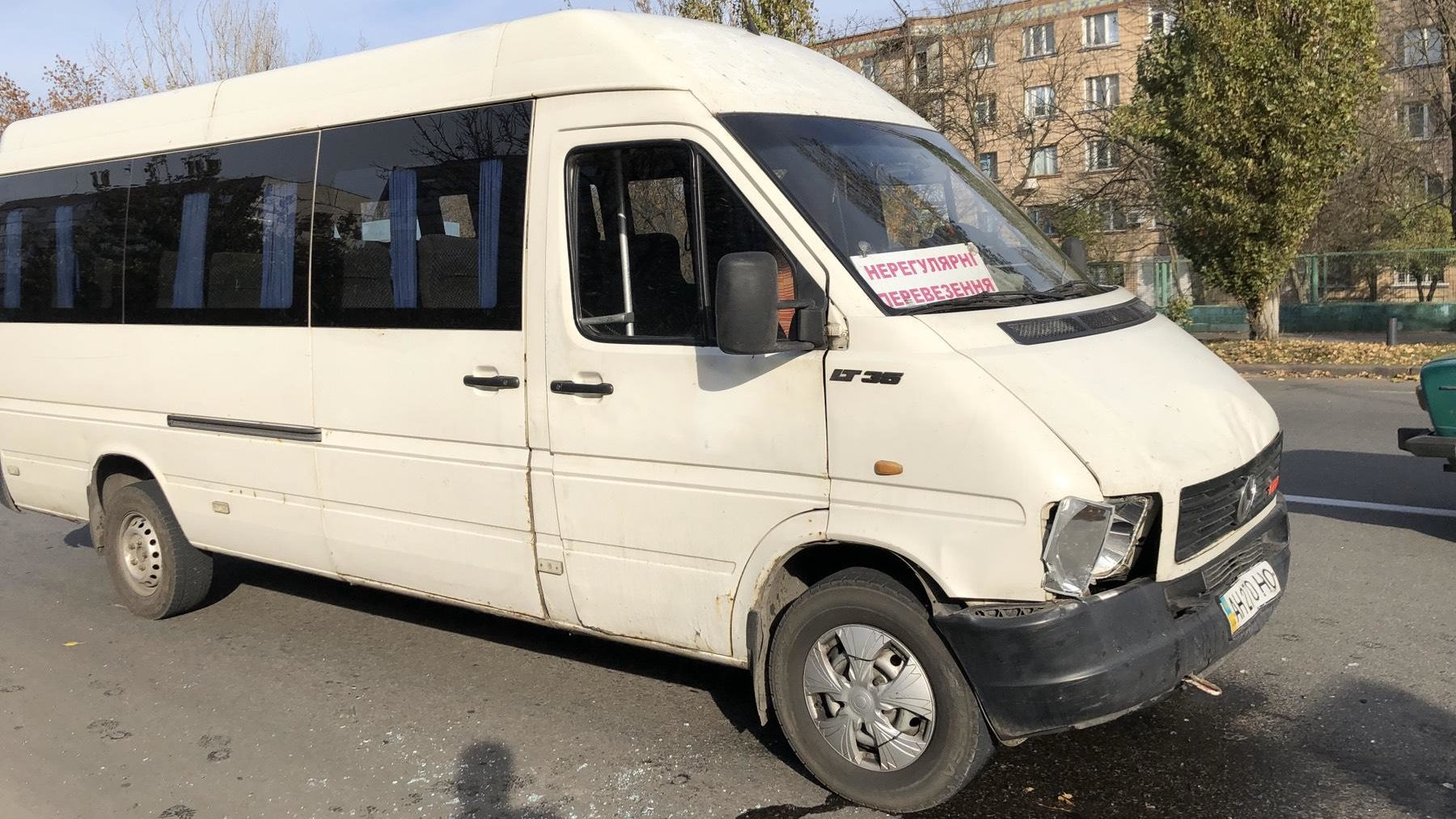 В Запорожской области произошла авария с участием маршрутки, — ФОТО