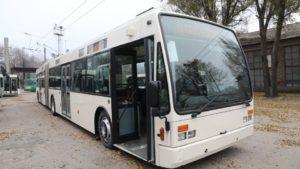 В Запорожье прибыл первый европейский троллейбус, который выйдет на маршруты города, – ФОТО