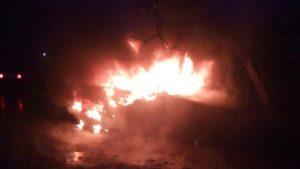 У Запоріжжі в Дніпровському районі згоріло авто, — ФОТО