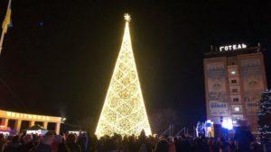В Запорізькій області чоловік заліз на новорічну ялинку