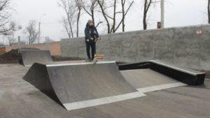 В одном из городов Запорожской области построили площадку для экстремальных видов спорта