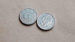 В Украине ввели в обращение 5-гривневые монеты