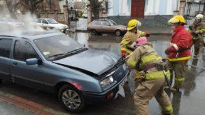 В Запорожской области загорелась машина, — ФОТО