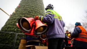 Новогоднее настроение все ближе: в центре Запорожья украшают главную елку, — ФОТО