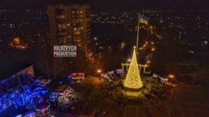 Новогодний Мелитополь сфотографировали с высоты птичьего полета, — ФОТО