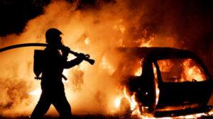 В Запорожье за сутки сгорело два автомобиля