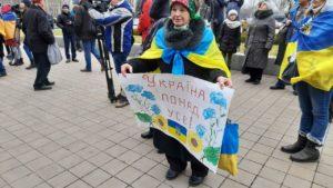 В Запорожье провели массовый флешмоб ко Дню Соборности Украины, — ФОТОРЕПОРТАЖ