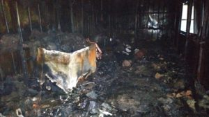 В Запорожской области из-за короткого замыкания сгорел пивной киоск