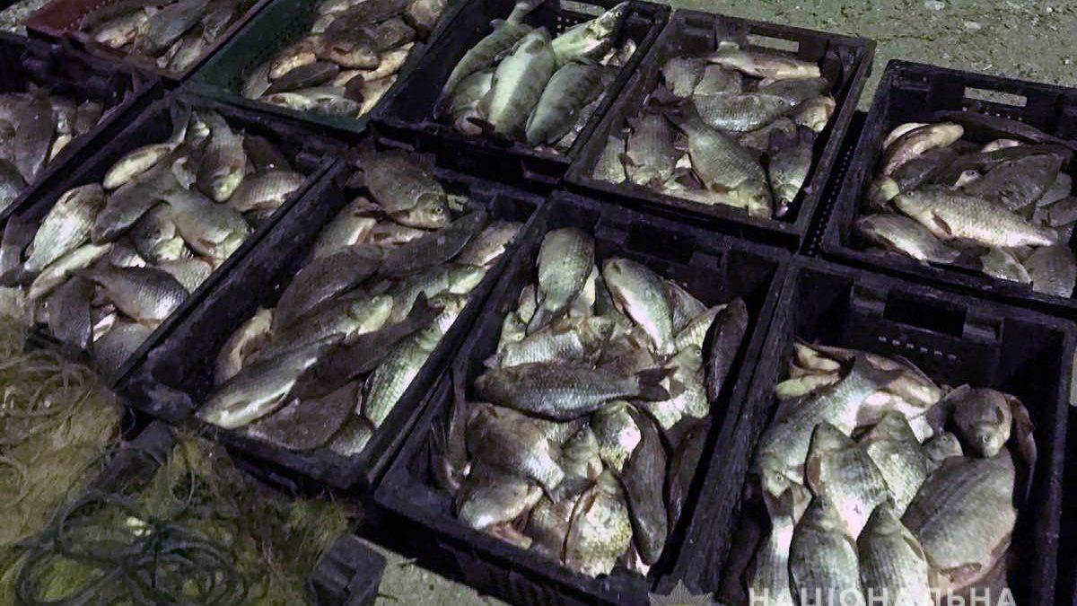 На Каховському водосховищі поліцейські спіймали чергових браконьєрів