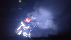 В Запорожской области посреди ночи горел автомобиль