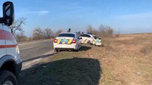 Оформляли ДТП и сами стали участниками: в Запорожской области авто полиции угодило в аварию, — ВИДЕО