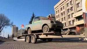 В Запорожье привезли единственный в мире автомобиль, — ВИДЕО