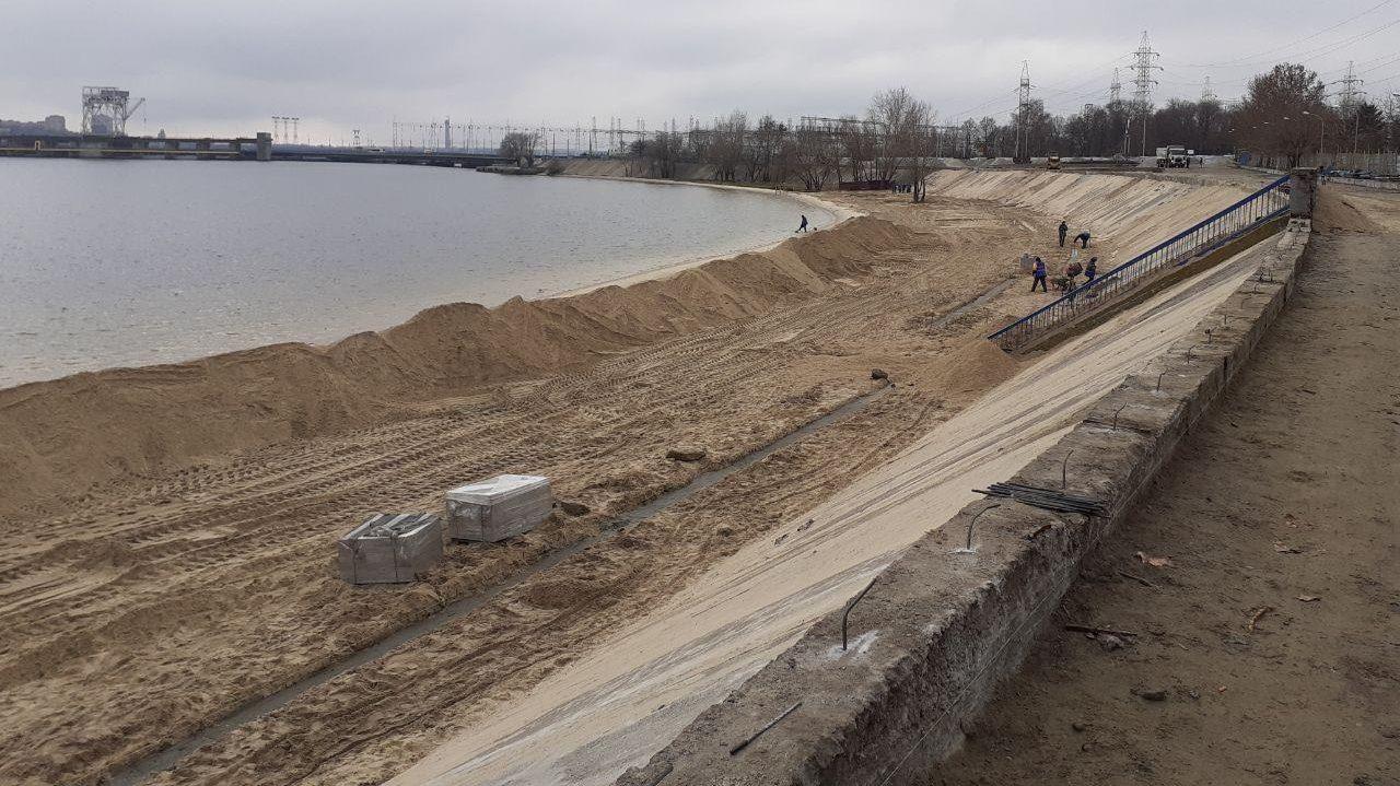 В Запорожье за 40 миллионов гривен делают реконструкцию Правобережного пляжа, – ФОТО