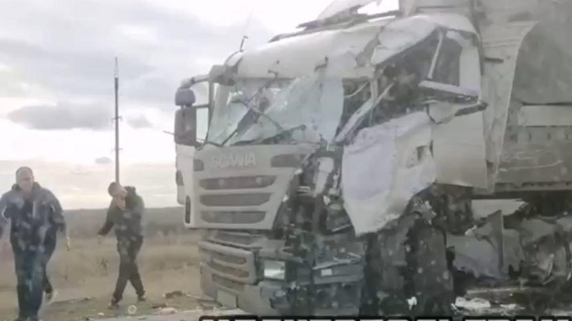 На запорожской трассе лоб в лоб столкнулись две фуры, – ФОТО, ВИДЕО