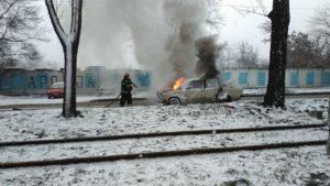 В Вознесеновском районе горел ВАЗ, — ФОТО