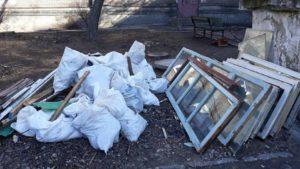 Запорожская инспекция по благоустройству зафиксировала 10 случаев захламления дворов строительным мусором