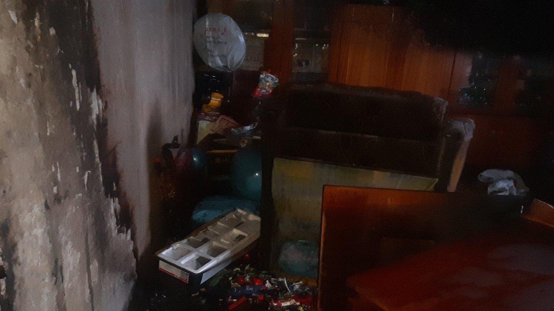В Запорожье из-за короткого замыкания горела квартира, - ФОТО
