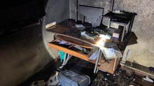 В Энергодаре по неизвестным причинам сгорела дотла квартира, — ФОТО