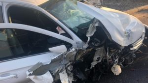 В Энергодаре пьяный водитель разбил иномарку: его пассажир – в тяжелом состоянии, – ФОТО