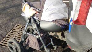 Отлетела на несколько метров: в сети появилось видео момента, когда пьяный сбил коляску, — ВИДЕО
