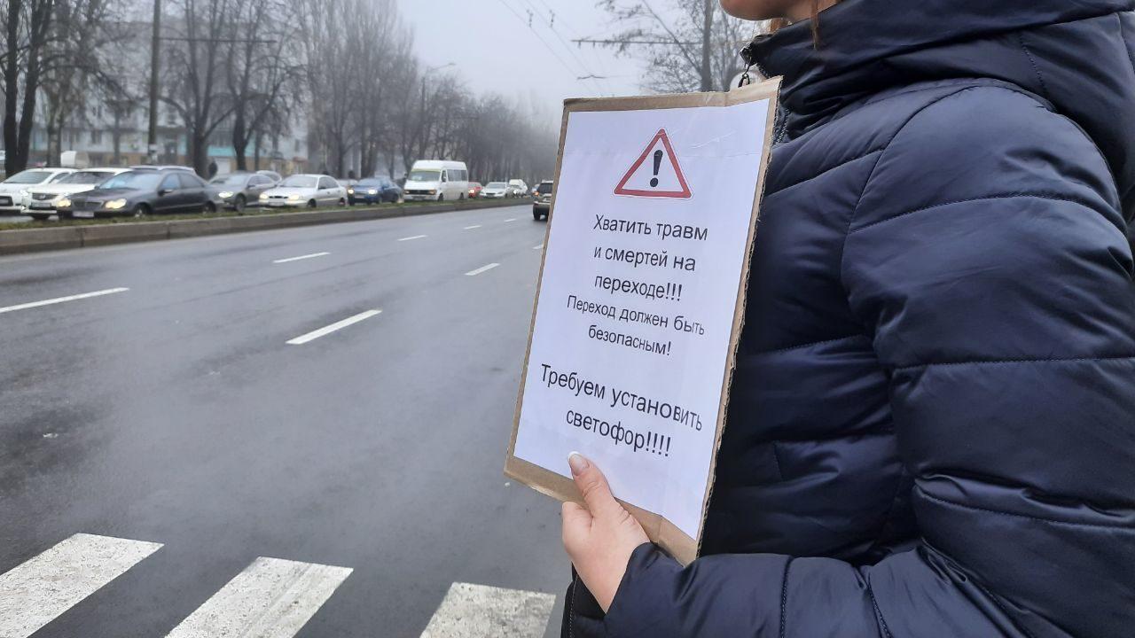 На скандально-небезпечному переході у Запоріжжі встановили світлофор