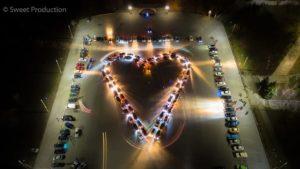 В Запорожье ко Дню святого Валентина создали огромное сердце из машин, – ФОТО