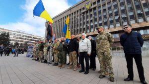 Запорожские ветераны АТО провели акцию ко Дню добровольца, – ФОТОРЕПОРТАЖ