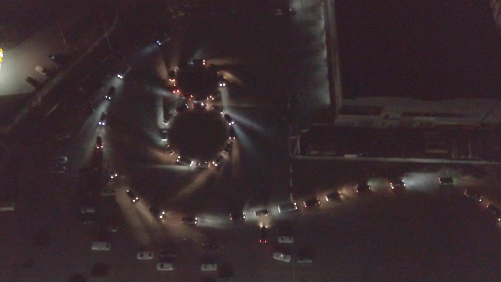 На Запоріжжі автолюбителі до 8 Березня створили живу авто-листівку, — ВІДЕО