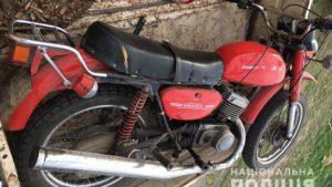 В Запорожской области за кражу мотоцикла задержали жителя Донецкой области