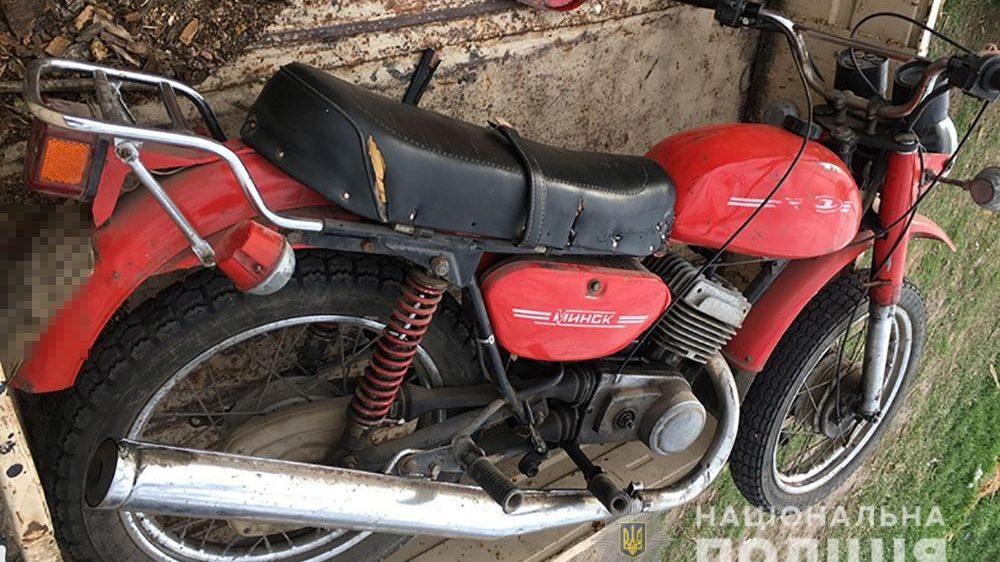 У Запорізькій області за крадіжку мотоцикла затримали жителя Донецької області