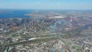 Житель Запоріжжя показав місто з висоти пташиного польоту, – ФОТО