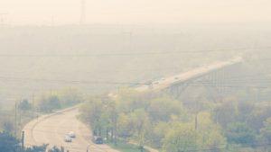Как выглядит Запорожье в дыму с высоты, — ФОТО
