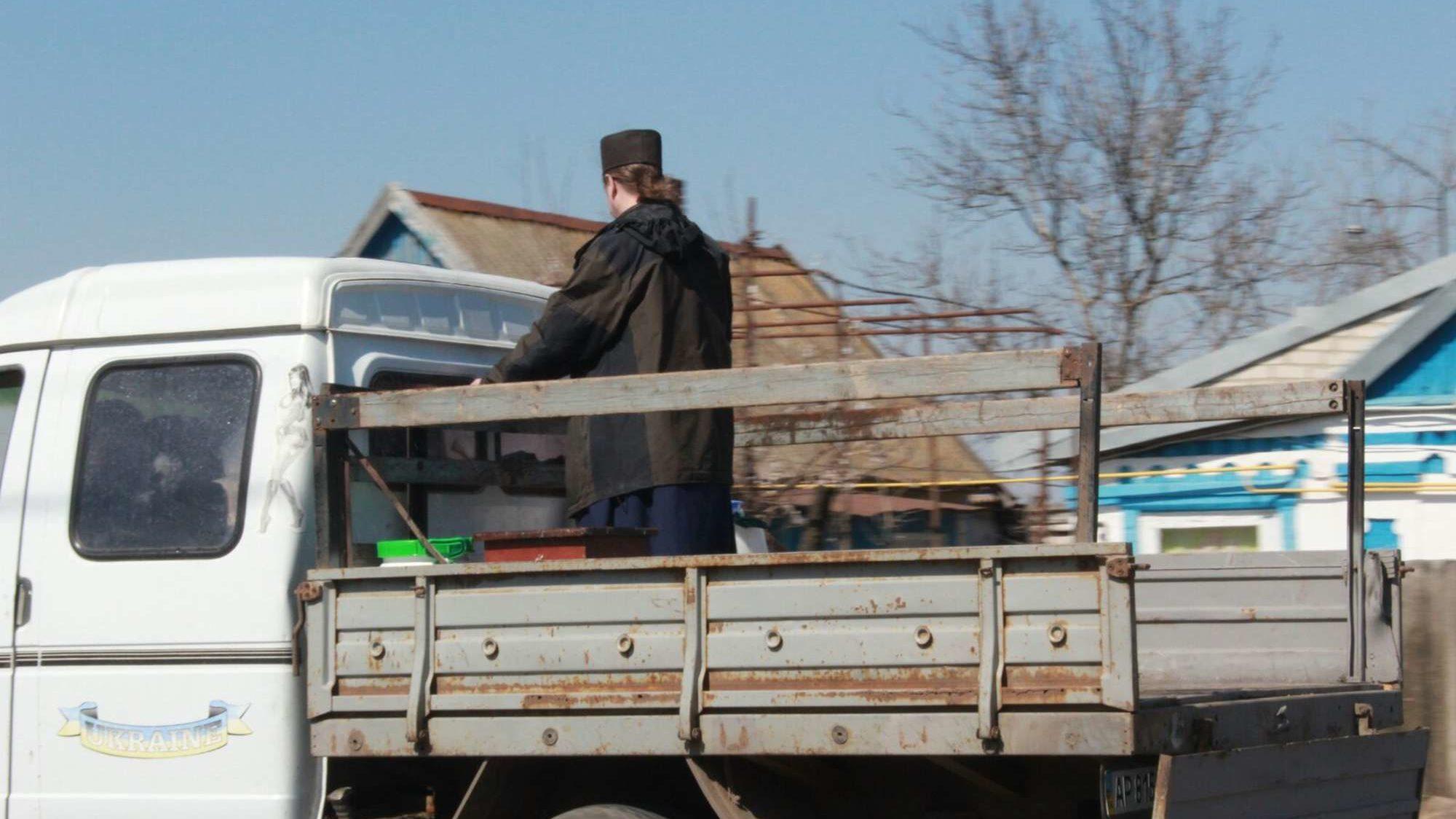 В Запорізькій області села окропили святою водою проти коронавіруса, — ФОТО