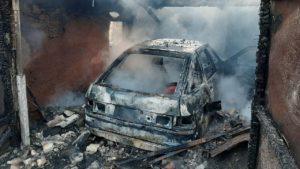 В одном из пгт Запорожской области из-за пожара в гараже травмировался пожилой мужчина