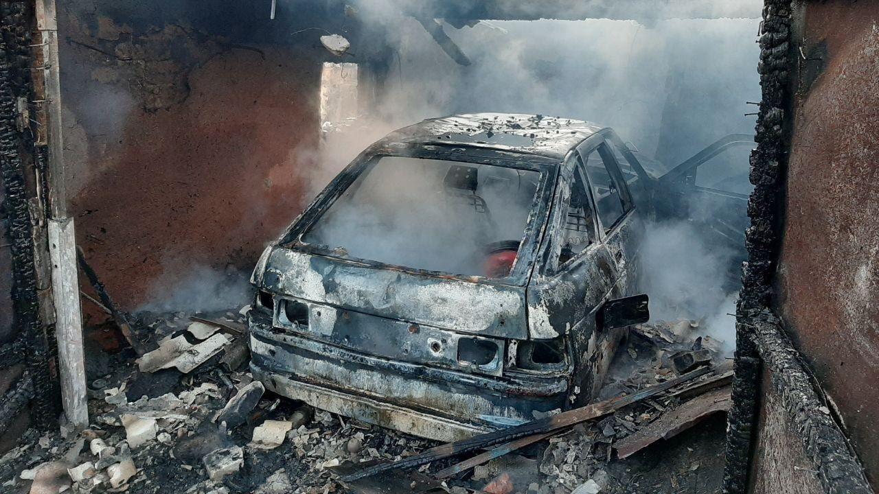 В одному з смт Запорізької області через пожежу у гаражі травмувався літній чоловік