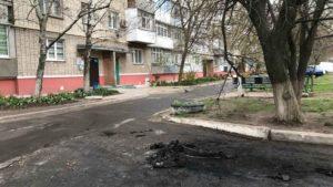 В Бердянске горел автомобиль жены полицейского