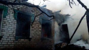 В Днепровском районе Запорожья полностью сгорел дом, — ФОТО